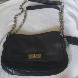 Coach bag with adjustable chain strap